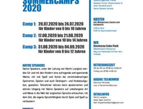 English & Sports Summercamps 2020