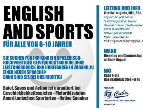 ENGLISH and SPORTS