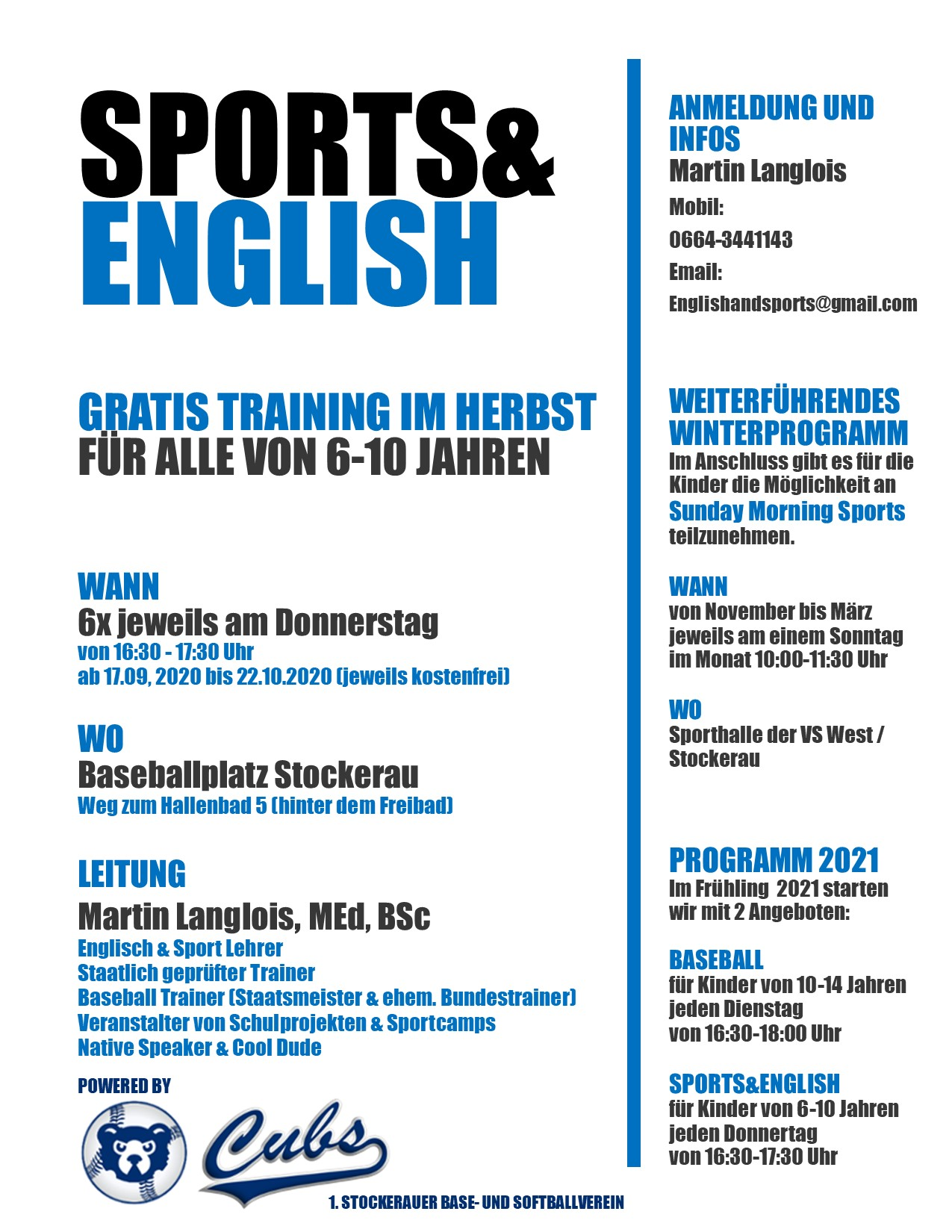 SPORTS&ENGLISH HERBST 2020