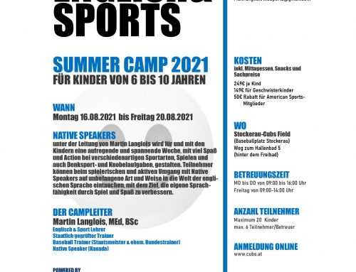 English & Sports Summer Camp 2021